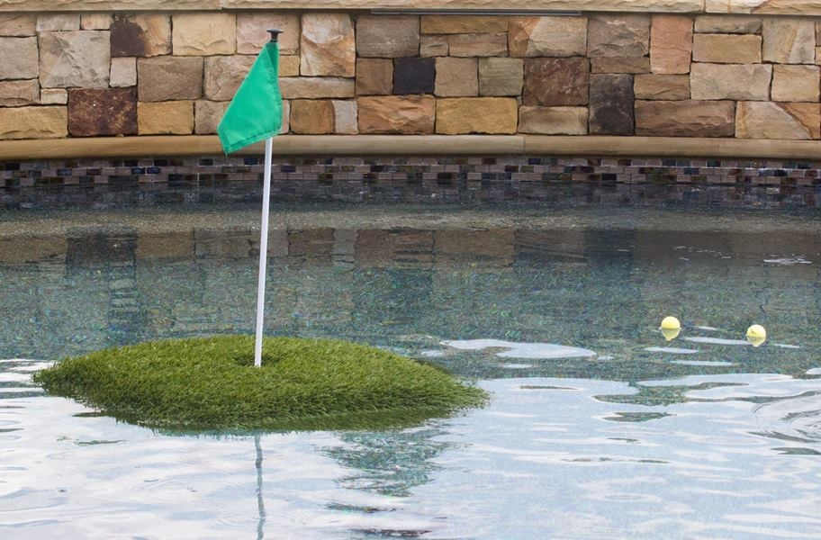 Floating Putting Green Mats - Blue