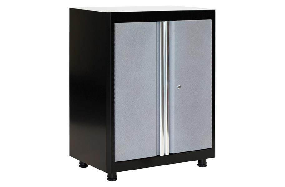 American Heritage 2-Door Base Cabinet - Black/Multi Granite