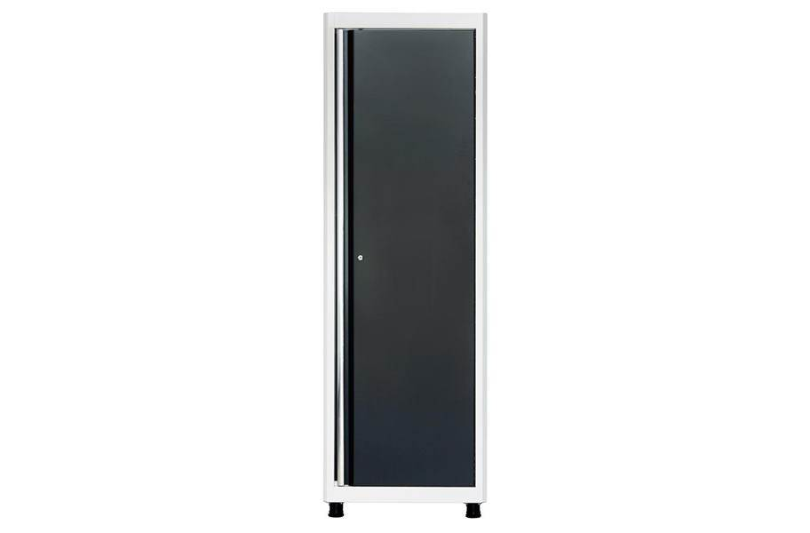American Heritage Single Door Tall Cabinet - White/Charcoal