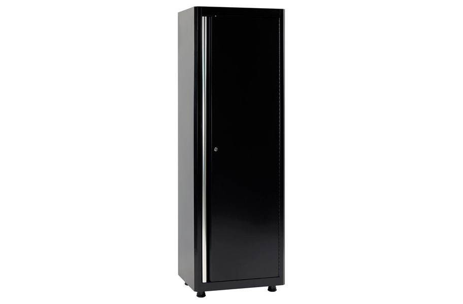 American Heritage Single Door Tall Cabinet - Black/Black