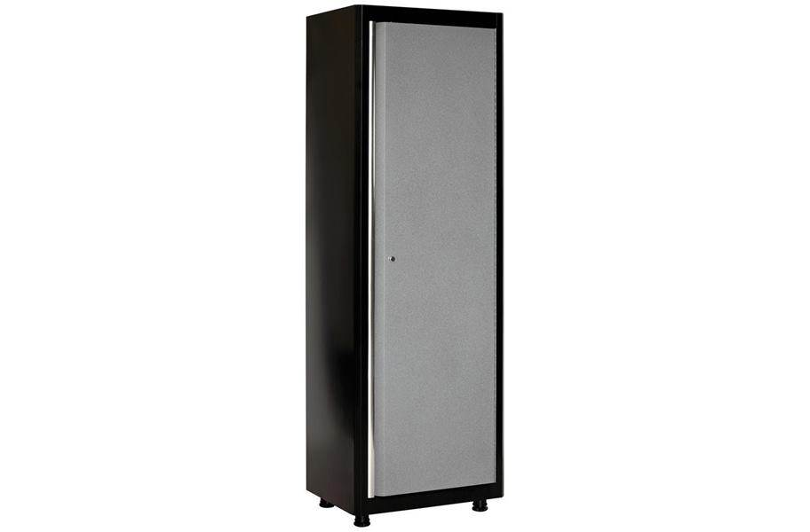 American Heritage Single Door Tall Cabinet - Black/Multi Granite