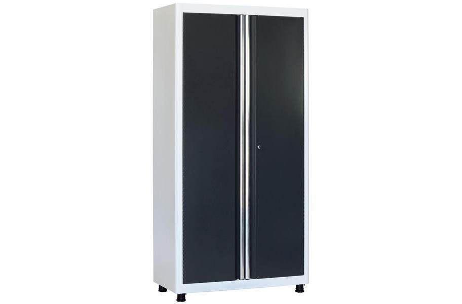 American Heritage 2-Door Tall Cabinet - White/Charcoal