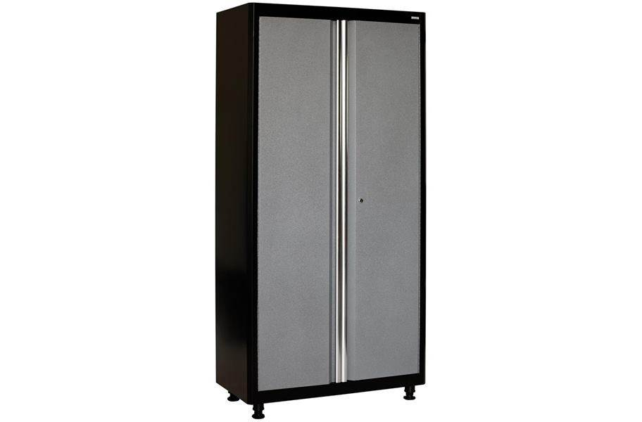 American Heritage 2-Door Tall Cabinet - Black/Multi Granite