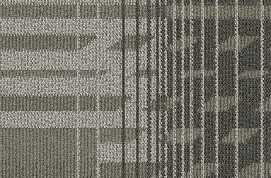 EF Contract Fractured Carpet Tile - Alloy