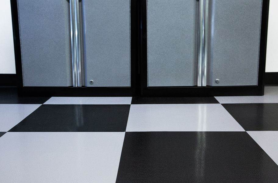 Smooth Flex Nitro Tiles - Black