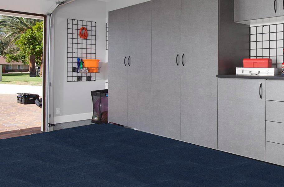 Premium Ribbed Carpet Tiles - Denim