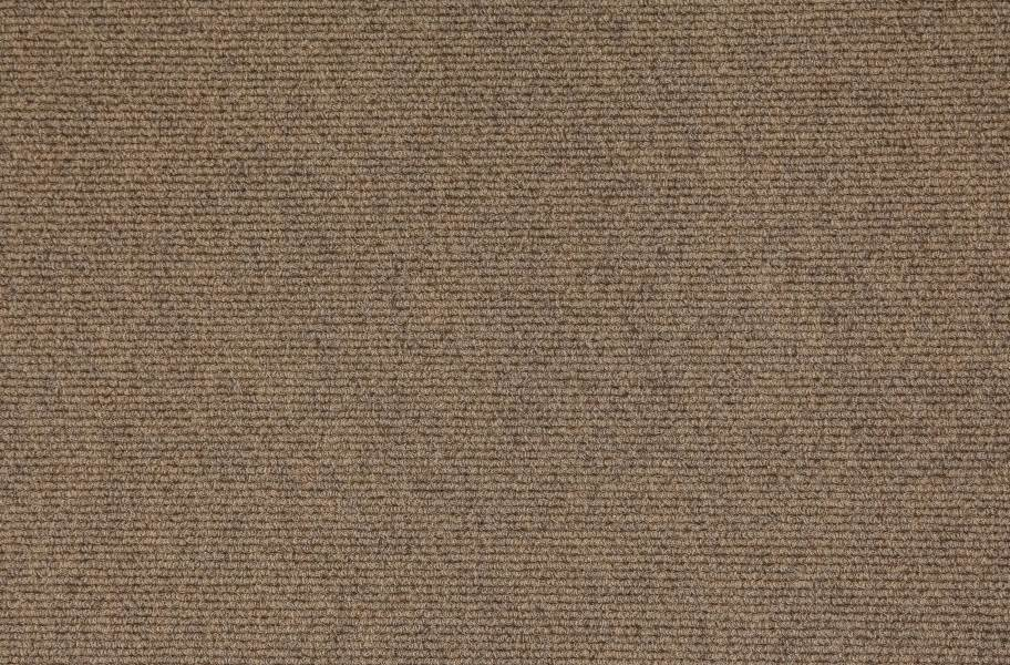 Premium Ribbed Carpet Tiles - Chestnut