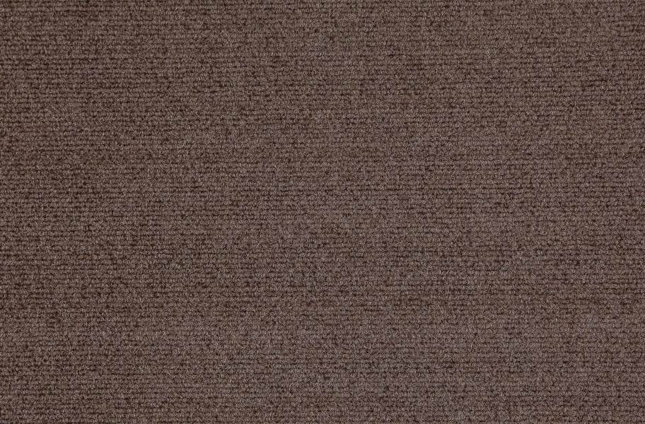 Premium Ribbed Carpet Tiles - Espresso
