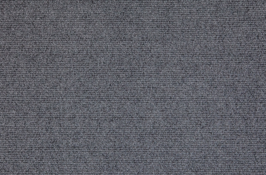 Premium Ribbed Carpet Tiles - Smoke