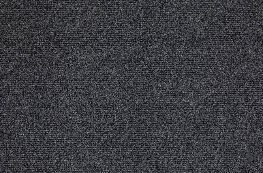 Premium Ribbed Carpet Tiles - Black Ice