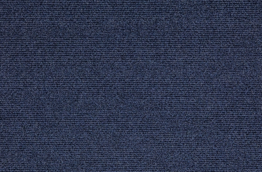 Premium Ribbed Carpet Tiles - Blue
