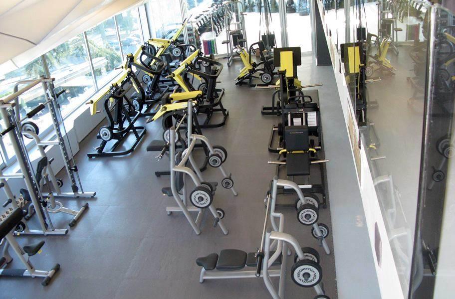 PAVIGYM 9mm Motion Rubber Tiles - Stone Gray