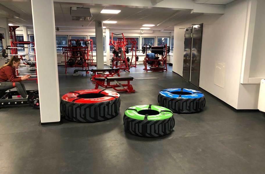 PAVIGYM 7mm Endurance Rubber Tiles - Autumn Brown