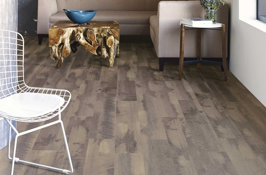 Shaw Transcend Rigid Core Planks - Grizzle Gray