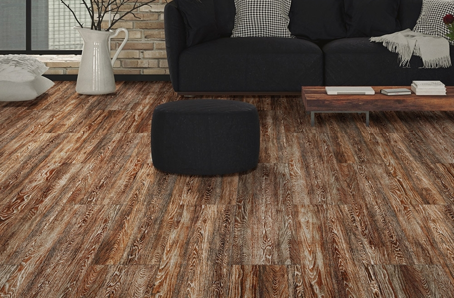 Wood Flex Tiles - Vintage Collection - Rusted Oak