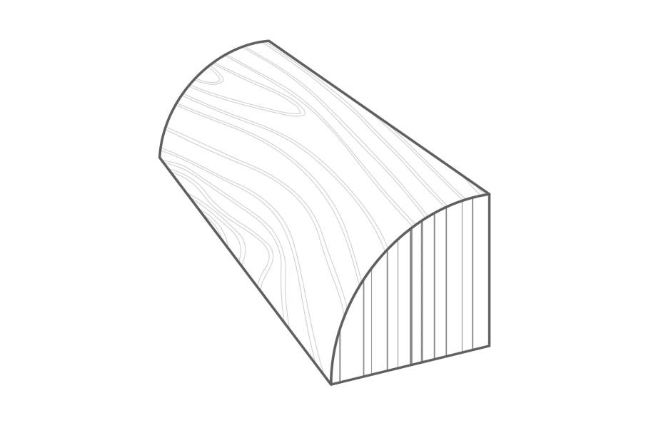 "Pinnacle Port 3/8"" x .63"" x 94"" Quarter Round"