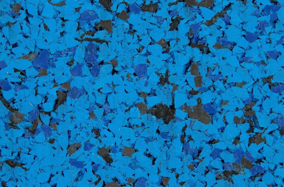 "1"" Monster Rubber Tiles - Blue Steel - 95%"
