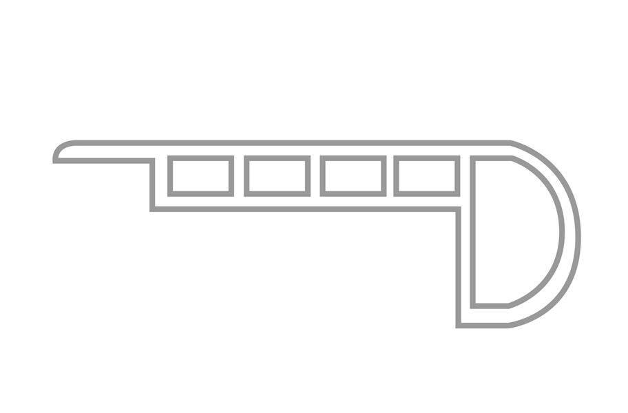 "Endura 1.75"" x 94"" Stairnose"