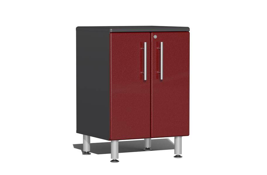 Ulti-MATE Garage 2.0 2-Door Base Cabinet - Ruby Red Metallic