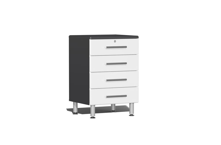 Ulti-MATE Garage 2.0 Series 4-Drawer Base Cabinet - Starfire White Metallic