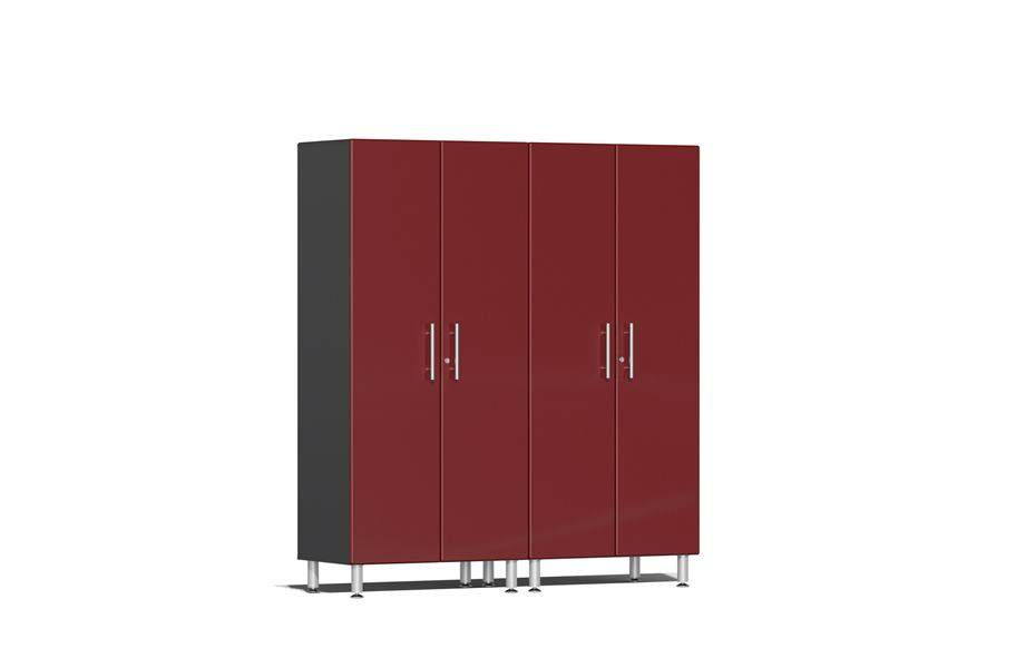 Ulti-MATE Garage 2.0 Series 2-PC Tall Cabinet Kit - Ruby Red Metallic