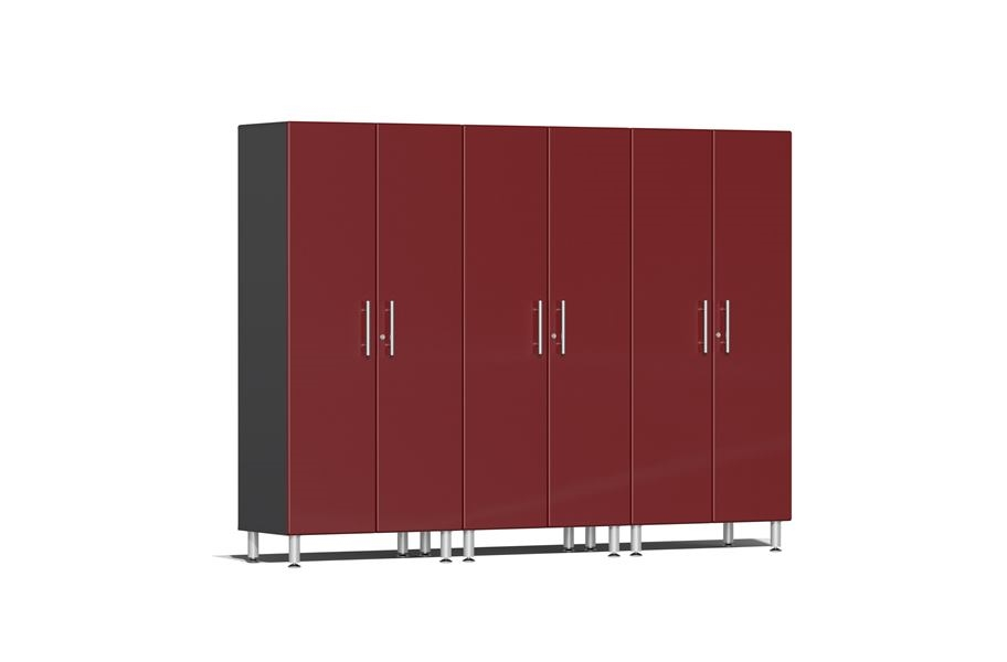 Ulti-MATE Garage 2.0 Series 3-PC Tall Cabinet Kit - Ruby Red Metallic