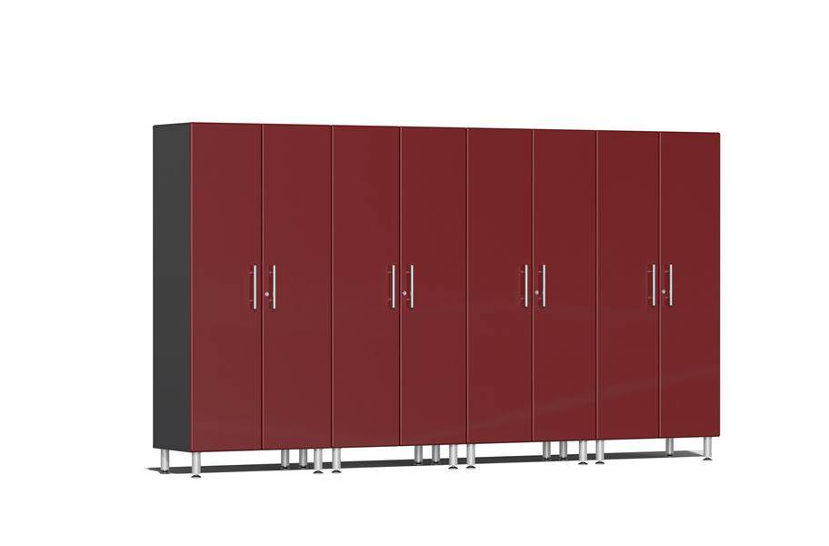 Ulti-MATE Garage 2.0 4-PC Tall Cabinet Kit - Ruby Red Metallic