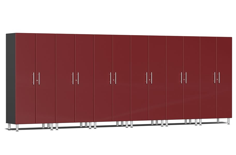 Ulti-MATE Garage 2.0 6-PC Tall Cabinet Kit - Ruby Red Metallic