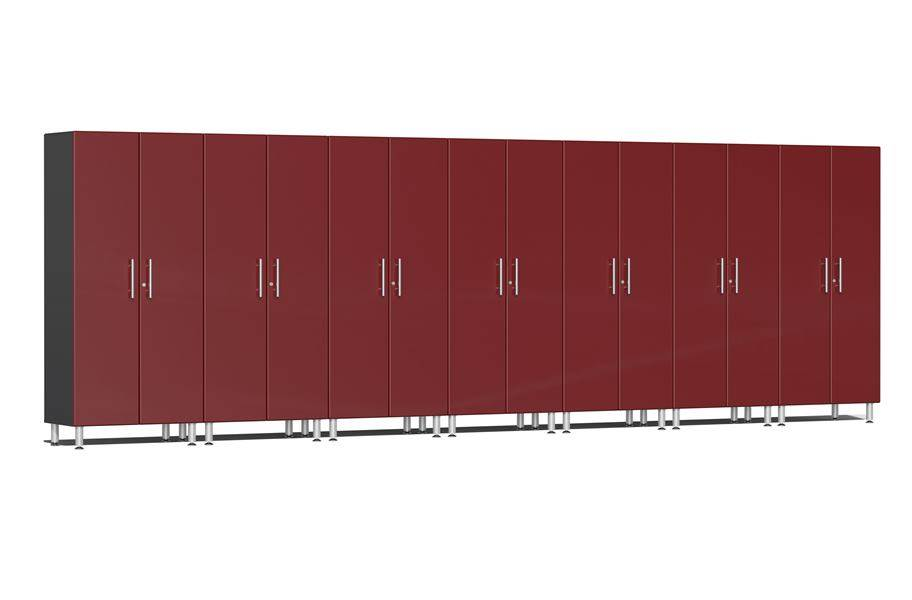 Ulti-MATE Garage 2.0 7-PC Tall Cabinet Kit - Ruby Red Metallic