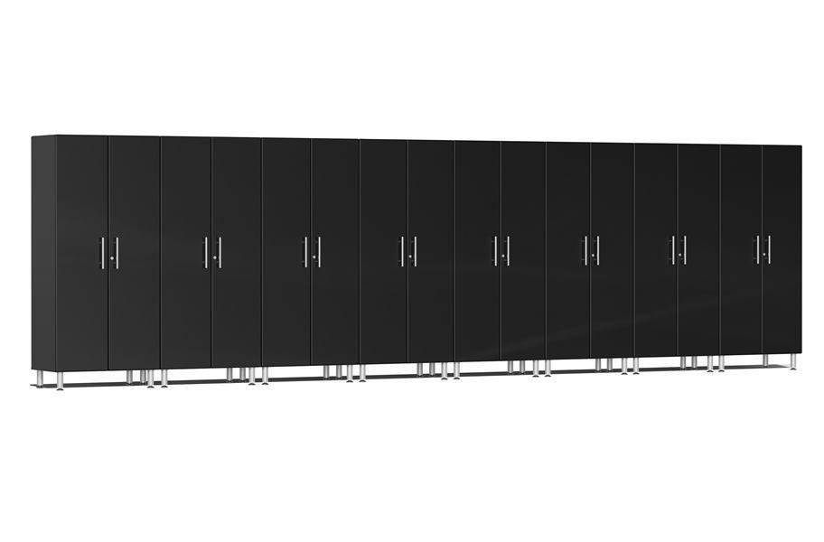 Ulti-MATE Garage 2.0 8-PC Tall Cabinet Kit - Midnight Black Metallic