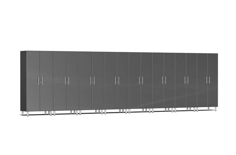 Ulti-MATE Garage 2.0 8-PC Tall Cabinet Kit - Graphite Grey Metallic