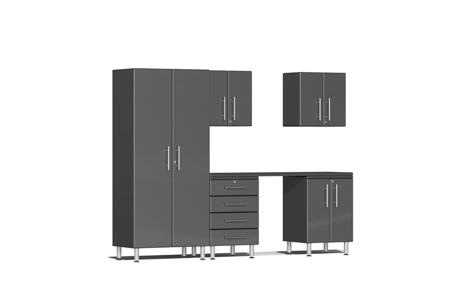 Ulti-MATE Garage 2.0 6-PC Kit w/ Workstation - Graphite Grey Metallic