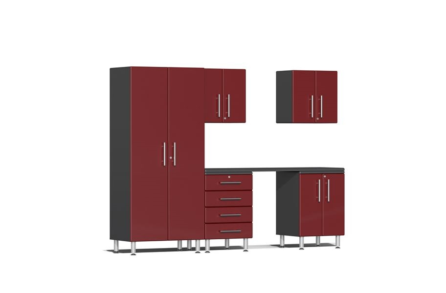 Ulti-MATE Garage 2.0 6-PC Kit w/ Workstation - Ruby Red Metalllic