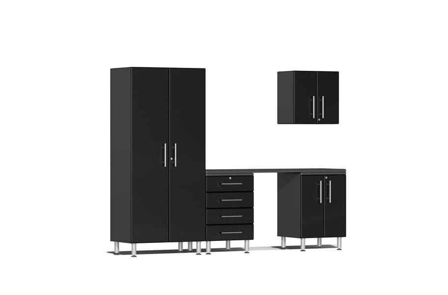 Ulti-MATE Garage 2.0 5-PC Kit w/ Workstation - Midnight Black Metallic