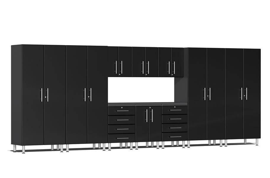 Ulti-MATE Garage 2.0 11-PC Kit w/ Workstation - Midnight Black Metallic