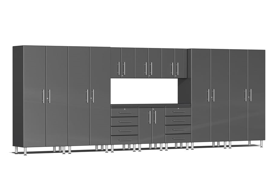 Ulti-MATE Garage 2.0 11-PC Kit w/ Workstation - Graphite Grey Metallic