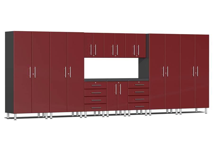 Ulti-MATE Garage 2.0 11-PC Kit w/ Workstation - Ruby Red Metallic