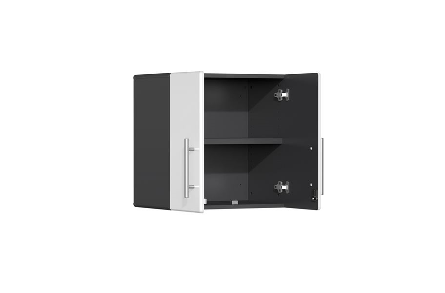 Ulti-MATE Garage 2.0 11-PC Kit w/ Bamboo Worktop - Starfire White Metallic