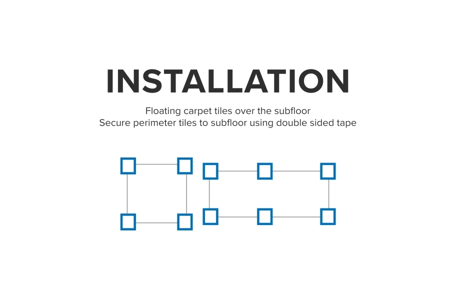 Floating Carpet Tile Tabs