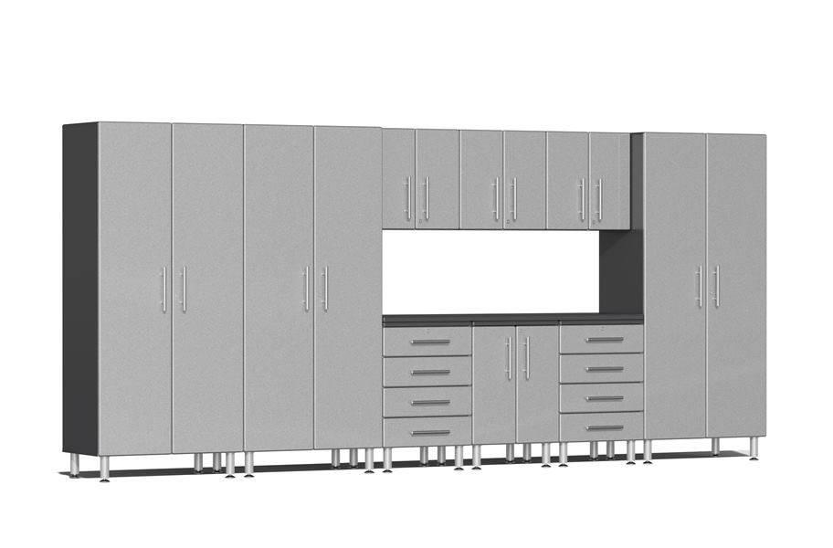 Ulti-MATE Garage 2.0 10-PC Kit w/ Recessed Worktop - Stardust Silver Metallic