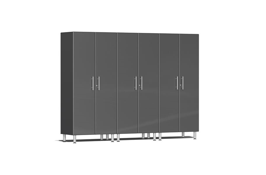 Ulti-MATE Garage 2.0 Series 3-PC Tall Cabinet Kit - Graphite Grey Metallic
