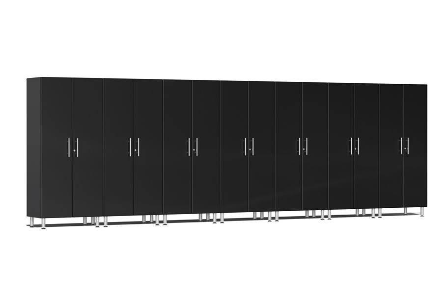 Ulti-MATE Garage 2.0 Series 7-PC Tall Cabinet Kit - Midnight Black Metallic