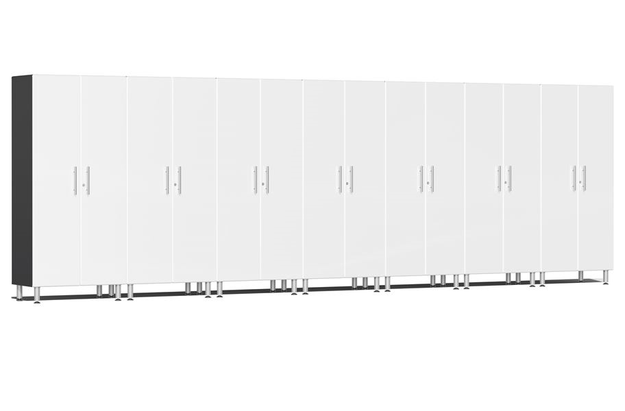 Ulti-MATE Garage 2.0 Series 7-PC Tall Cabinet Kit - Starfire White Metallic