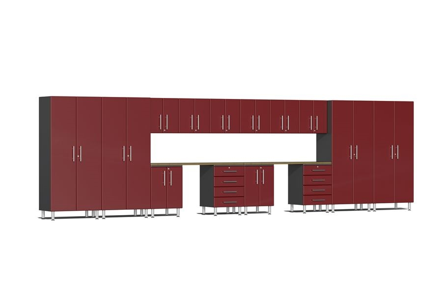 Ulti-MATE Garage 2.0 16-PC Kit w/ Dual Workstation