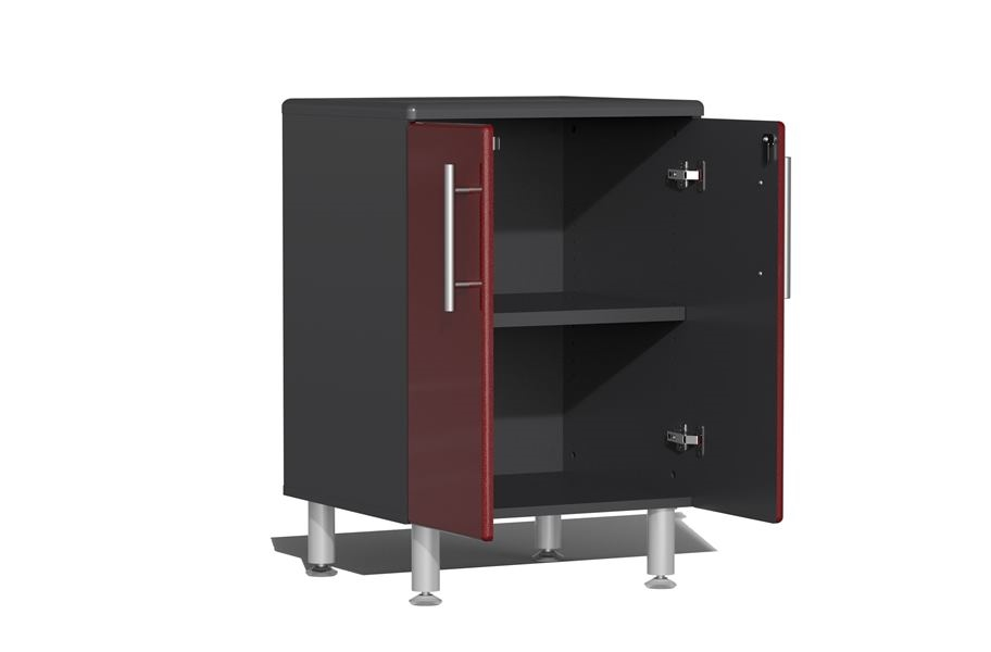 Ulti-MATE Garage 2.0 16-PC Kit w/ Dual Workstation - Ruby Red Metallic