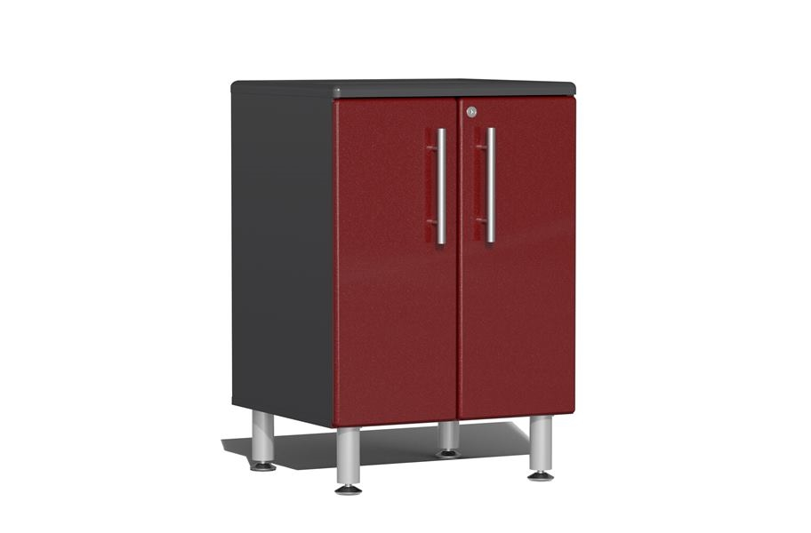 Ulti-MATE Garage 2.0 Series 2-Door Base Cabinet - Ruby Red Metallic