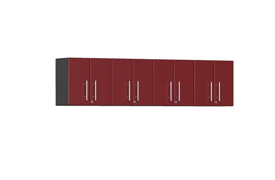 Ulti-MATE Garage 2.0 Series 4-PC Wall Cabinet Kit  - Ruby Red Metallic
