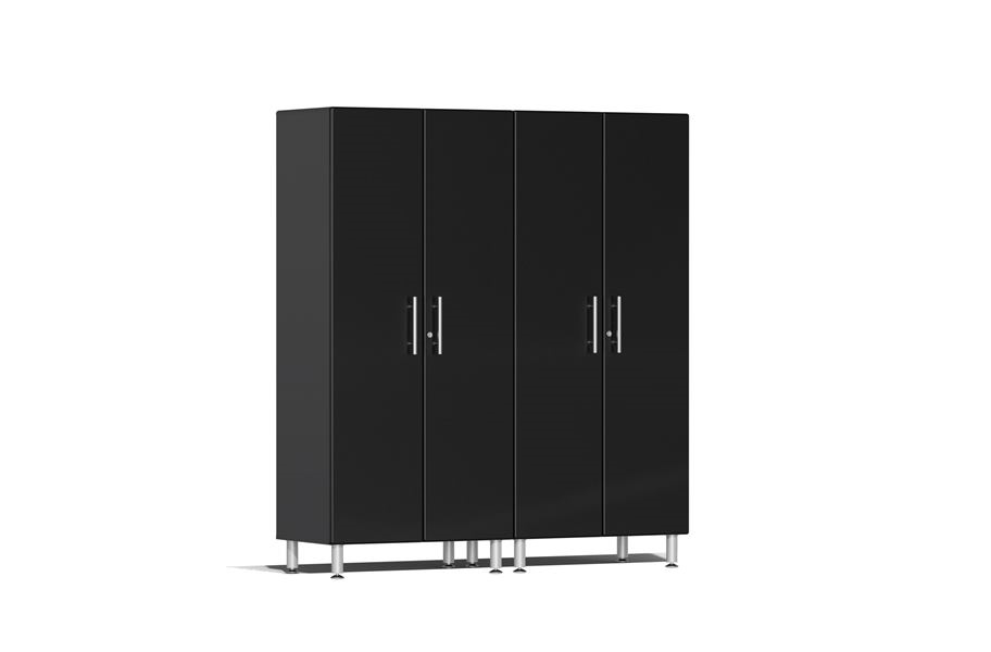 Ulti-MATE Garage 2.0 Series 2-PC Tall Cabinet Kit - Midnight Black Metallic
