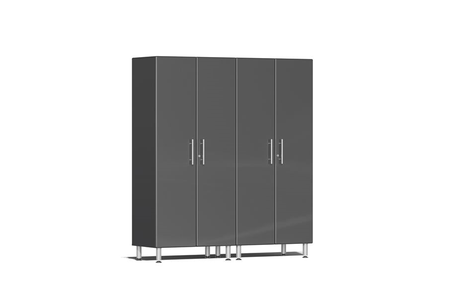 Ulti-MATE Garage 2.0 Series 2-PC Tall Cabinet Kit - Graphite Grey Metallic