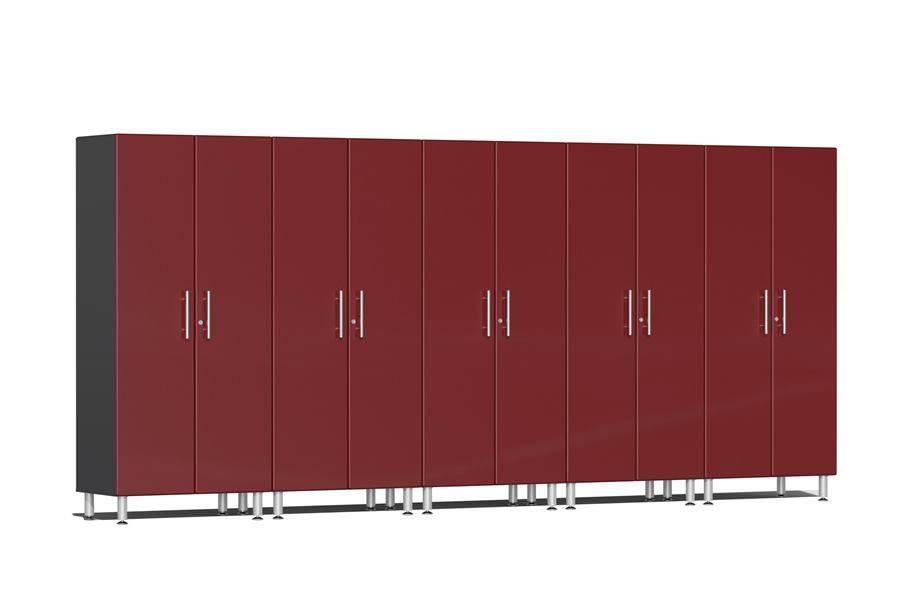 Ulti-MATE Garage 2.0 Series 5-PC Tall Cabinet Kit - Ruby Red Metallic